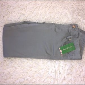 Lilly Pulitzer Worth Skinny Pants Palm Beach Grey